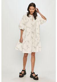 Biała sukienka Levi's® na spotkanie biznesowe, biznesowa, prosta