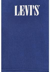 Niebieska bluza nierozpinana Levi's® z nadrukiem, biznesowa