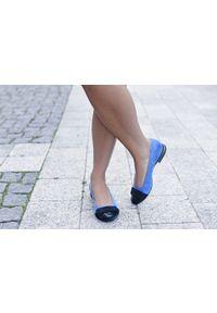 Szare baleriny Zapato eleganckie, wąskie