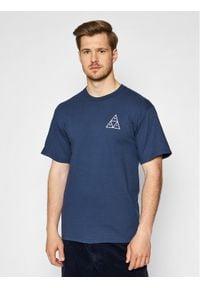 HUF T-Shirt Essentials TS00509 Granatowy Regular Fit. Kolor: niebieski