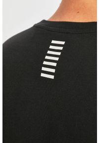 Czarna bluza nierozpinana EA7 Emporio Armani na co dzień, z nadrukiem, bez kaptura