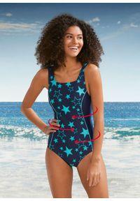 Kostium kąpielowy shape Level 1 bonprix ciemoniebiesko-miętowy. Kolor: niebieski