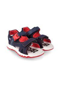 Niebieskie sandały Garvalin gładkie