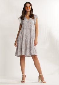 Renee - Liliowa Sukienka Viviatune. Kolor: fioletowy