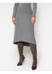 Calvin Klein Spódnica midi Knitted K20K202328 Szary Regular Fit. Kolor: szary