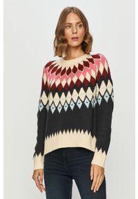 Wielokolorowy sweter only z okrągłym kołnierzem, długi