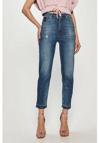 Niebieskie jeansy loose fit Guess z podwyższonym stanem
