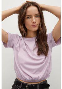 Różowa bluzka mango casualowa, gładkie, na co dzień