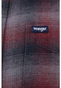 Wrangler - Koszula bawełniana. Typ kołnierza: kołnierzyk klasyczny. Kolor: szary. Materiał: bawełna. Długość rękawa: długi rękaw. Długość: długie. Styl: klasyczny