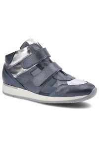 Karino - Sneakersy KARINO 1652/149-P Niebieski/Srebrny. Kolor: srebrny, niebieski, wielokolorowy