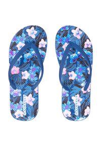 Japonki damskie Firefly Madera 11 414808. Okazja: na spacer, na plażę. Materiał: guma. Wzór: aplikacja, paski, kolorowy. Styl: wakacyjny