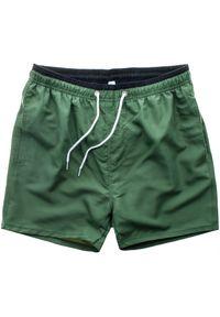 Zielone spodenki sportowe Recea krótkie, w kolorowe wzory