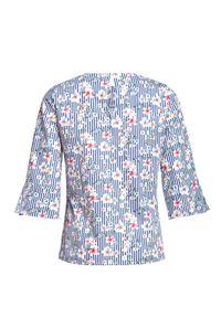 Niebieska bluzka VEVA casualowa, do pracy