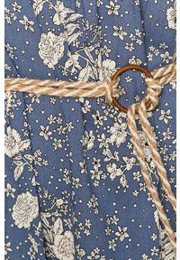 Niebieska sukienka ANSWEAR prosta, w kwiaty, na co dzień