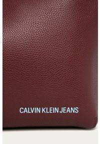Brązowa torebka Calvin Klein na ramię, skórzana, duża