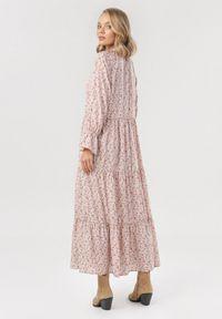 Born2be - Ciemnoróżowa Sukienka Heltyse. Kolor: różowy. Wzór: kwiaty. Długość: maxi
