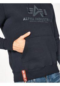 Alpha Industries Bluza Basic 178312 Granatowy Regular Fit. Kolor: niebieski