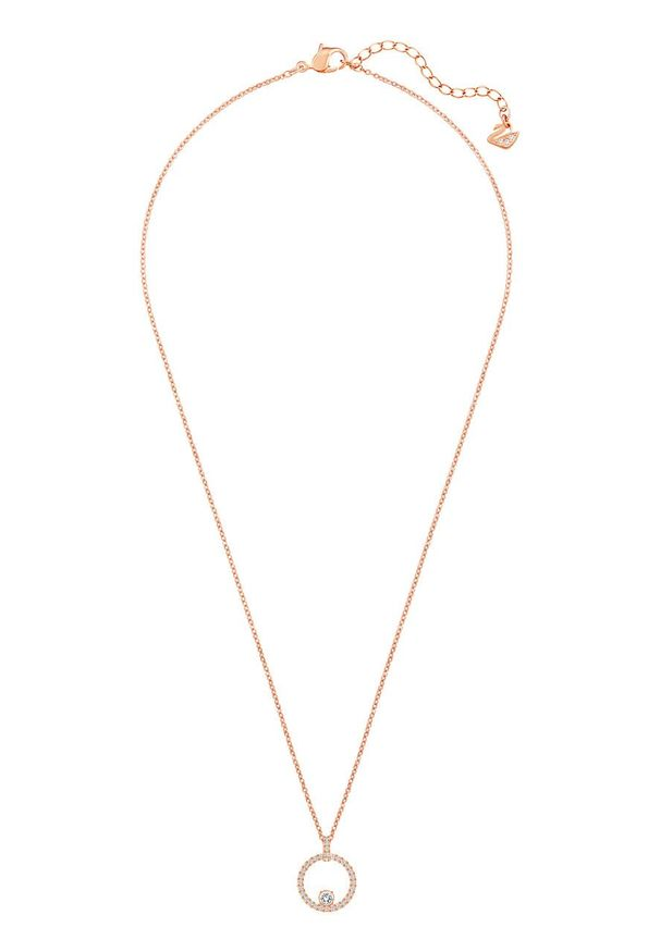Złoty naszyjnik Swarovski z kryształem, ze stali