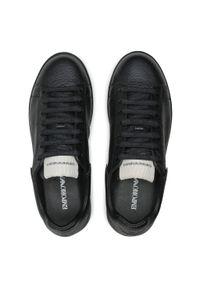 Emporio Armani - Sneakersy EMPORIO ARMANI - X4X264 XM783 K001 Black/Black. Kolor: czarny. Materiał: skóra ekologiczna, materiał. Szerokość cholewki: normalna