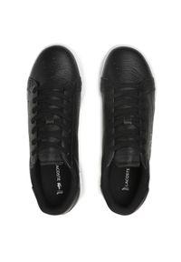 Lacoste - Sneakersy LACOSTE - Twin Serve 0721 3 Sma 7-41SMA0075312 Blk/Wht. Okazja: na co dzień. Kolor: czarny. Materiał: skóra. Szerokość cholewki: normalna. Styl: elegancki, sportowy, casual