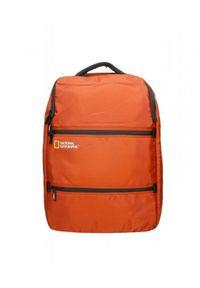 Czerwony plecak na laptopa National Geographic w paski