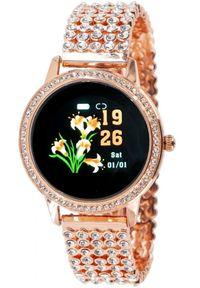 Oxe Smart Watch Stone LW20 - Inteligentny zegarek, Rose Gold. Rodzaj zegarka: smartwatch. Styl: elegancki
