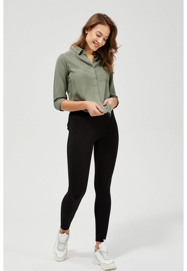 Czarne spodnie MOODO długie, klasyczne