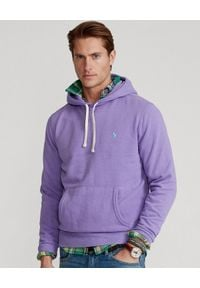 Ralph Lauren - RALPH LAUREN - Fioletowa bluza z kapturem. Typ kołnierza: kaptur. Kolor: wielokolorowy, fioletowy, różowy. Materiał: materiał. Wzór: haft