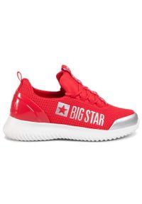 Czerwone półbuty Big-Star casualowe, na co dzień