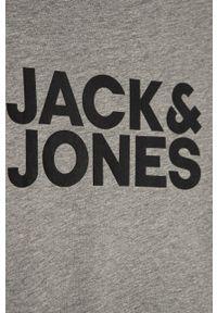 Jack & Jones - T-shirt dziecięcy 128-176 cm. Okazja: na co dzień. Kolor: szary. Materiał: dzianina. Wzór: nadruk. Styl: casual