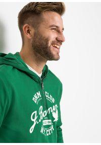 Zielona bluza bonprix z nadrukiem, z kapturem
