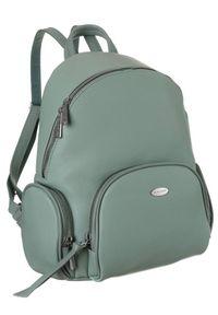 DAVID JONES - Plecak damski zielony David Jones 6521-2 L.GREEN. Kolor: zielony. Materiał: skóra ekologiczna