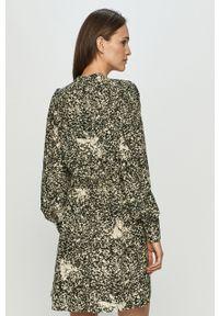 Wielokolorowa sukienka Vero Moda z długim rękawem, mini, ze stójką, rozkloszowana