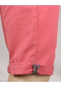 Różowe spodnie Brave Soul na lato, w kolorowe wzory, eleganckie