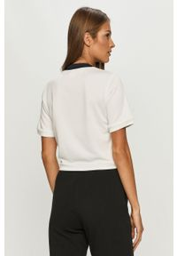 Biała bluzka Reebok Classic na co dzień, casualowa, z aplikacjami