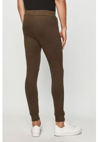 Oliwkowe spodnie dresowe John Frank
