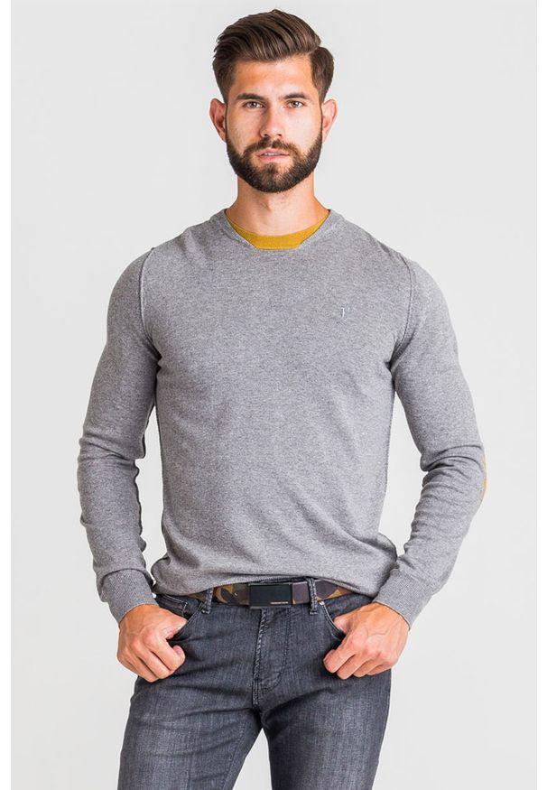 Sweter Trussardi Jeans z haftami, z okrągłym kołnierzem