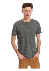 Zielony t-shirt TOP SECRET z krótkim rękawem, na wiosnę