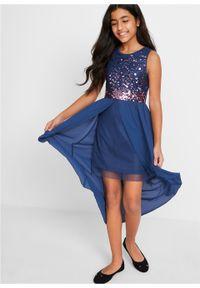 Sukienka dziewczęca na uroczyste okazje z tiulową wstawką bonprix kobaltowy. Kolor: niebieski. Materiał: tiul #2