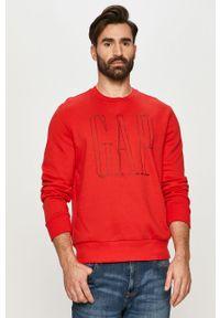 Czerwona bluza nierozpinana GAP na co dzień, casualowa, z nadrukiem