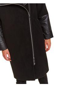 Czarny płaszcz TOP SECRET długi