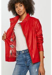 Czerwona kurtka Desigual na co dzień, gładkie, casualowa #7