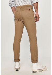 Beżowe spodnie Jack & Jones gładkie, na co dzień