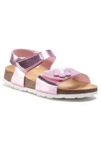 Różowe sandały Superfit z aplikacjami, na lato