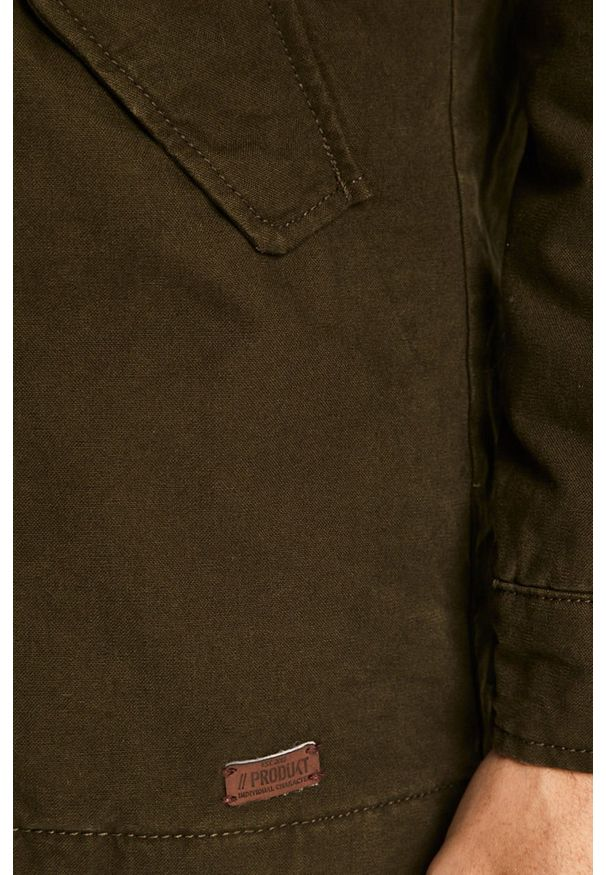 Zielona kurtka PRODUKT by Jack & Jones z kapturem