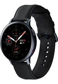 SAMSUNG - Smartwatch Samsung Galaxy Watch Active 2 Stainless Black 44mm Czarny (SM-R825FSKAXEO). Rodzaj zegarka: smartwatch. Kolor: czarny