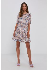 Vero Moda - Sukienka. Kolor: biały. Materiał: tkanina, wiskoza, materiał