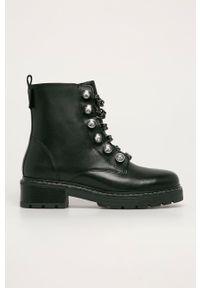 Kurt Geiger London - Workery skórzane Bax. Nosek buta: okrągły. Kolor: czarny. Materiał: skóra