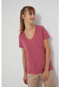 medicine - Medicine - T-shirt Basic. Kolor: różowy. Materiał: bawełna, dzianina. Wzór: gładki
