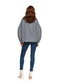 TOP SECRET - Koszula bawełniana w kratę. Kolor: czarny. Materiał: bawełna. Długość: długie. Sezon: wiosna
